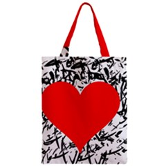 Red Valentine 2 Classic Tote Bag by Valentinaart