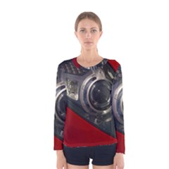 Auto Red Fast Sport Women s Long Sleeve Tee