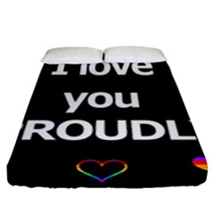 Proudly Love Fitted Sheet (queen Size)