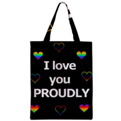 Proudly Love Zipper Classic Tote Bag by Valentinaart