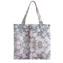 Light Circles, Watercolor Art Painting Zipper Grocery Tote Bag by picsaspassion