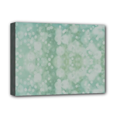 Light Circles, Mint Green Color Deluxe Canvas 16  X 12   by picsaspassion