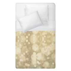 Light Circles, Brown Yellow color Duvet Cover (Single Size)