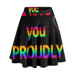 I love you proudly High Waist Skirt by Valentinaart