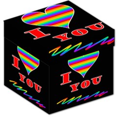 I Love You Storage Stool 12   by Valentinaart