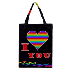 I Love You Classic Tote Bag by Valentinaart