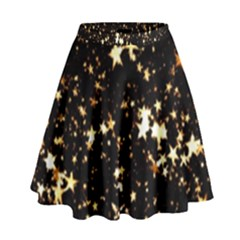 Golden Stars In The Sky High Waist Skirt by picsaspassion