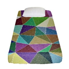 Colorful Triangles, Pencil Drawing Art Fitted Sheet (single Size) by picsaspassion