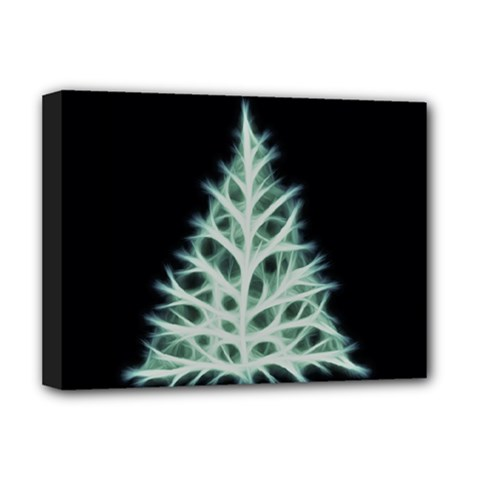Christmas Fir, Green And Black Color Deluxe Canvas 16  X 12   by picsaspassion