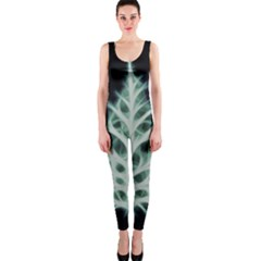 Christmas Fir, Green And Black Color Onepiece Catsuit by picsaspassion