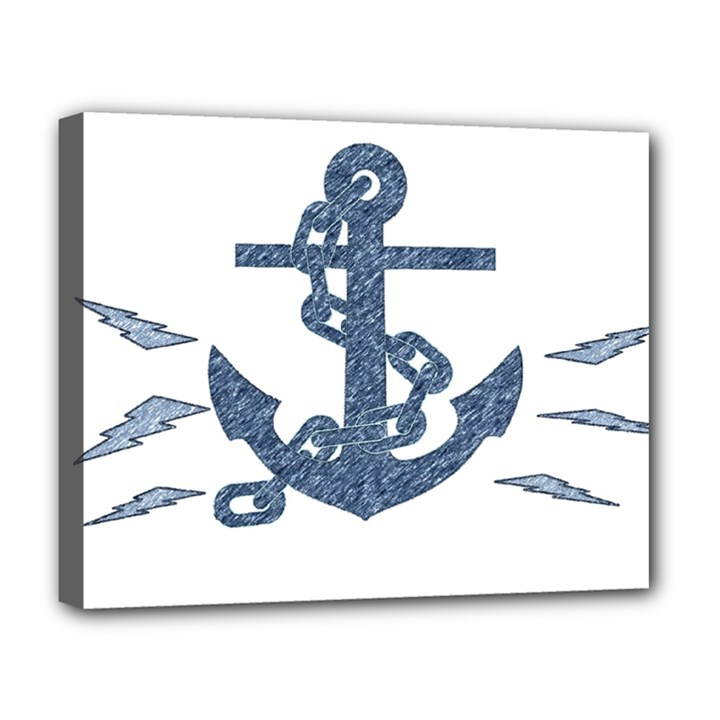 Anchor Pencil drawing art Deluxe Canvas 20  x 16