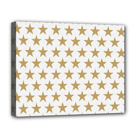 Golden Stars Pattern Deluxe Canvas 20  X 16   by picsaspassion