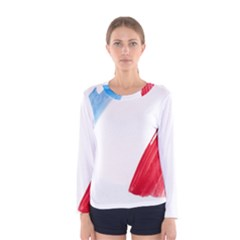 Tricolor Banner France Women s Long Sleeve Tee