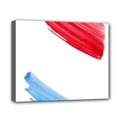 Tricolor Banner Watercolor Painting, Red Blue White Canvas 10  X 8  by picsaspassion