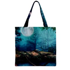 Mysterious Fantasy Nature Grocery Tote Bag by Brittlevirginclothing
