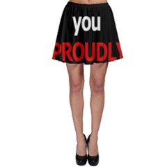 I Love You Proudly Skater Skirt by Valentinaart