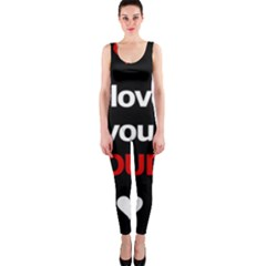 I Love You Proudly Onepiece Catsuit by Valentinaart