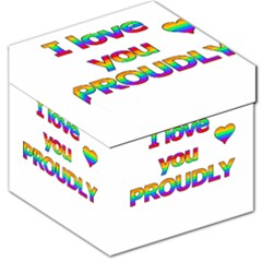 I love you proudly 2 Storage Stool 12   by Valentinaart