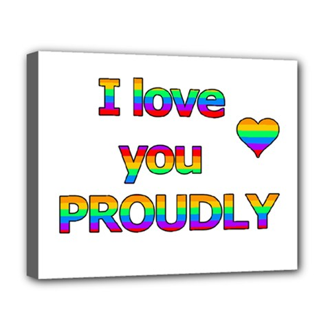 I Love You Proudly 2 Deluxe Canvas 20  X 16   by Valentinaart
