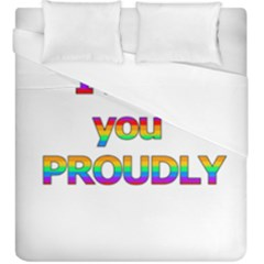 I Love You Proudly 2 Duvet Cover (king Size) by Valentinaart