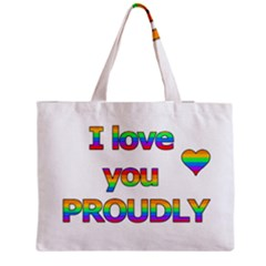 I Love You Proudly 2 Medium Tote Bag by Valentinaart