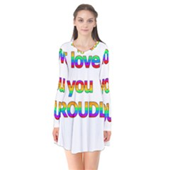 I Love You Proudly 2 Flare Dress by Valentinaart