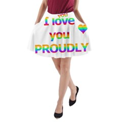 Proudly Love A Line Pocket Skirt by Valentinaart
