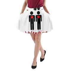 Be mine Valentine A-Line Pocket Skirt by Valentinaart