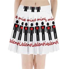 Be Mine Valentine Pleated Mini Skirt by Valentinaart