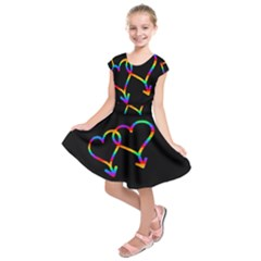 Love is love Kids  Short Sleeve Dress by Valentinaart