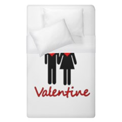 Be Mine Valentine Duvet Cover (single Size) by Valentinaart