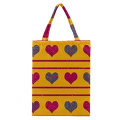 Decorative Harts Pattern Classic Tote Bag by Valentinaart