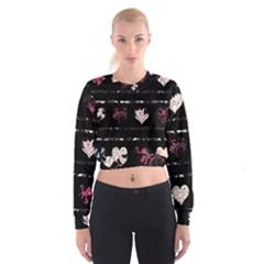 Elegant Harts Pattern Women s Cropped Sweatshirt by Valentinaart