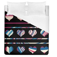 Colorful Harts Pattern Duvet Cover (queen Size) by Valentinaart