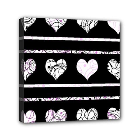 Elegant Harts Pattern Mini Canvas 6  X 6  by Valentinaart