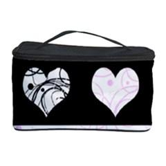 Elegant Harts Pattern Cosmetic Storage Case by Valentinaart