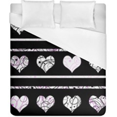 Elegant Harts Pattern Duvet Cover (california King Size) by Valentinaart
