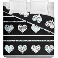 Elegant Harts Pattern Duvet Cover Double Side (king Size) by Valentinaart