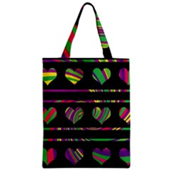 Colorful Harts Pattern Zipper Classic Tote Bag by Valentinaart