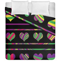 Colorful Harts Pattern Duvet Cover Double Side (california King Size) by Valentinaart