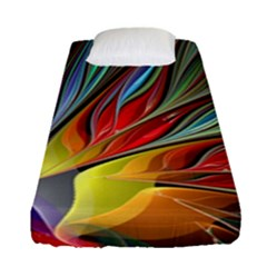 Fractal Bird Of Paradise Fitted Sheet (single Size) by WolfepawFractals