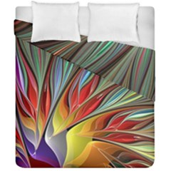 Fractal Bird Of Paradise Duvet Cover Double Side (california King Size) by WolfepawFractals