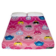 Alice In Wonderland Fitted Sheet (queen Size) by reddyedesign