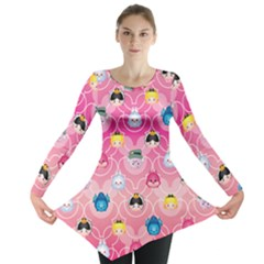Alice In Wonderland Long Sleeve Tunic  by reddyedesign