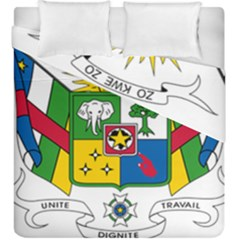 Coat Of Arms Of The Central African Republic Duvet Cover Double Side (king Size) by abbeyz71