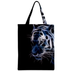 Ghost Tiger  Zipper Classic Tote Bag by Brittlevirginclothing