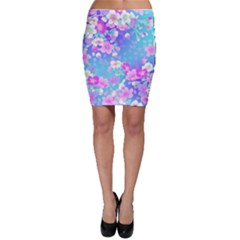 Colorful Pastel  Flowers Bodycon Skirt by Brittlevirginclothing