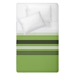 Greenery Stripes Pattern Horizontal Stripe Shades Of Spring Green Duvet Cover (Single Size)