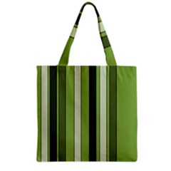 Greenery Stripes Pattern 8000 Vertical Stripe Shades Of Spring Green Color Grocery Tote Bag by yoursparklingshop