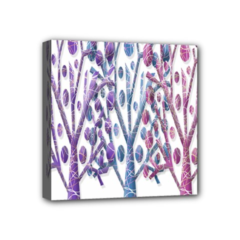 Magical Pastel Trees Mini Canvas 4  X 4  by Valentinaart
